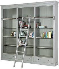 Large Ladder Bookcase Portobello Antique Grey Library Bookcase Luxury Home Furniture