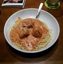 Five Cheese Marinara Sauce On Cavatappi Pasta With Chicken Meatballs - create your own cucina mia spaghetti with five cheese marinara and