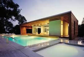 modern home architect cool swimming pool on the yard of