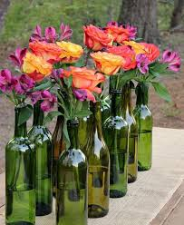 Wine Glass Flower Vase 60 Creative Diy Glass Bottle Ideas For Your Outdoor Living Space