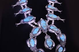vintage turquoise silver necklace images Vintage native american squash blossom necklaces from indian touch jpg
