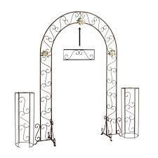 wedding arches and columns koch originals wedding arch with 2 columns and extender onyx bronze