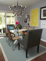 funky dining room lighting decor of with table and chairs pictures