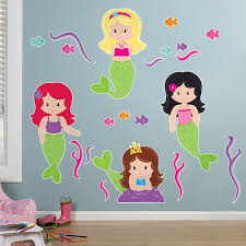 Dr Seuss Nursery Wall Decals by Mermaids Giant Wall Decals Birthdayexpress Com