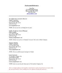 Resume Templates Reference Page Resume Reference Page Template Reference List Template Sle
