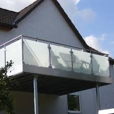 edelstahl balkon mit glas balkone metallbau schwedes kassel lohfelden
