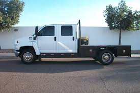 2003 gmc kodiak c5500 crew cab flat bed with duramax diesel