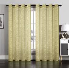 lucy beige lattice faux linen sheer wide width grommet window