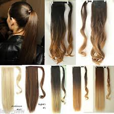 ponytail extension dip dye ombre wrap around ponytail clip in hair extensions ebay