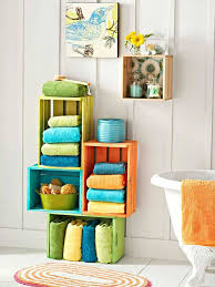 Bathroom Storage Ideas For Towels Bathroom Recycled Crate Towel Storage Home Tweaks