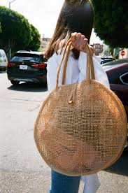 vintage woven circle tote bags beach and cool bag