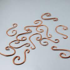heavy duty copper ornament hooks set of 12