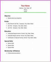 Resume Template Basic by General Resume Templates Pointrobertsvacationrentals
