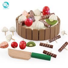 jeux de simulation de cuisine en bois bébé cuisine jouets jeux de simulation de coupe gâteau jouer