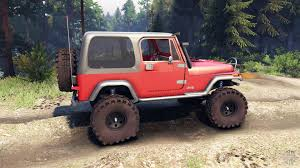 jeep red yj 1987 red for spin tires