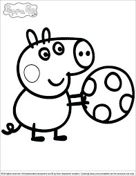 Peppa Pig Coloring Pages A4 Kids Colouring Printable Cartoon Pig Coloring Pages