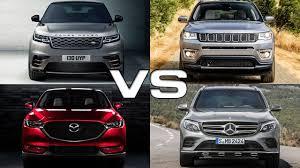 mazda jeep 2015 land rover velar vs jeep compass vs mazda cx 5 vs mercedes glc