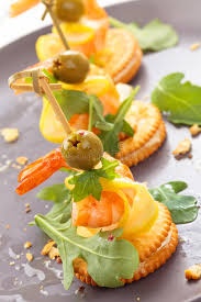 canapes with prawns canapes with prawns stock photo image of arugula food 79270410