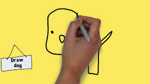 how to draw a dog easy and simple for kids easy step by step