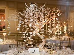 winter centerpieces for wedding tree branches wedding
