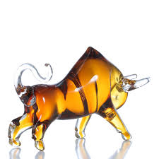 Cow Home Decor Best And Cheap Yellow Tooarts Yellow Cattle Glass Sculpture Home