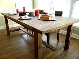 Rustic Wood Dining Room Table Terrific Rustic Farmhouse Table Dining Farm At Plans Gregorsnell