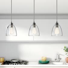quartz countertops 3 light kitchen island pendant lighting