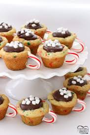 chocolate cookie cups butter with a side of bread