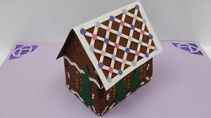 Pop Up House by How To Make A 3d Christmas Gingerbread House Pop Up Card Diy
