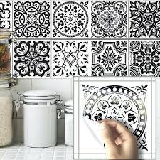 stickers cuisine carrelage carrelage stickers cuisine salle de bains mur noir et blanc motif