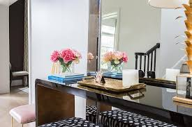 black lacquer console table glossy black waterfall console table design ideas