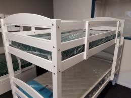 Cosmos White Single Bunk Beds With Trundle - Single bunk beds