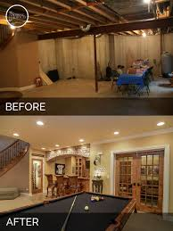 Ideas For Remodeling Basement Brian Danica S Basement Before After Pictures Basements