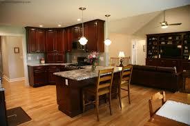 kitchen design dark cherry cabinets and black stainless steel