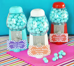 mini gumball machine party favor kids party favor ideas