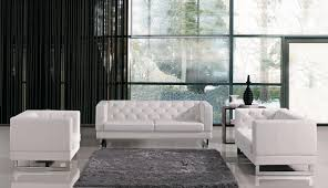 modern sofa sets white leather sofa divani casa roslyn modern white leather sofa