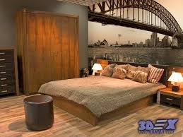 bedroom with brown wallpaper decorating room ideas general new 3d wallpaper designs for wall decoration in the home