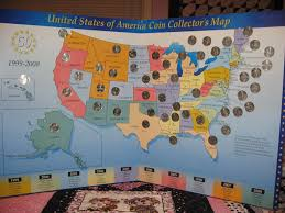 State Quarters Map by January 2009 U2013 Always Quilts