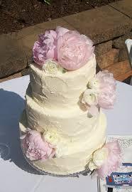 elegant peony wedding cake peche petite