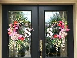 springtime wreaths front door wreath hanger both wreaths for double doors springtime