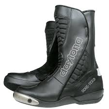 sport motorcycle boots daytona strive goretex waterproof leather black motorcycle sports