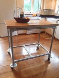 butcher block kitchen island table rolling kitchen island constructed from pipe kee kl pipe