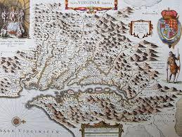 Jamestown Virginia Map 1633 John Smith U0026 Hondius Original Antique Map Of Virginia