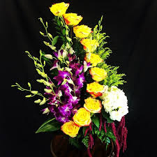 local florist delivery floral tower of orchids and roses in moreno valley ca garden