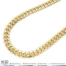 free gold necklace images 14k yellow gold hollow 10mm miami cuban chain necklace box clasp jpg