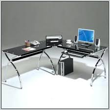 L Shaped Black Glass Desk Glass Desk Office Depot Medium Size Of Office Depot Desks Glass