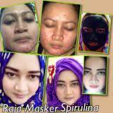 Masker Spirulina Per Butir hanifah store 60 kapsul masker wajah spirulina pemutih alami anti