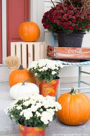 fall porch decor blooming homestead