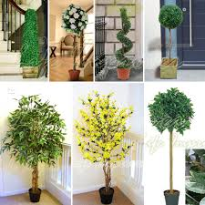 artificial tree cone spiral twist topiary fig bay 3ft