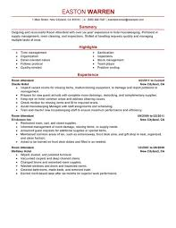 housekeeping room attendant sample resume unforgettable